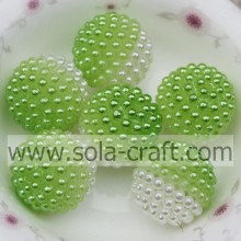 19MM Green Color Newest Bicolors Artificial Pearl For Wedding Decoration