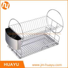 Magasinez les unités de rayonnage de fil à l'étagère de fil à quatre niveaux de Jiangmen, chrome, panier d'empilement de chrome large Whitmor suprême