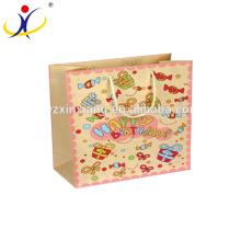 El mejor servicio de mango de tela de terciopelo de compras bolsas de regalo de cumpleaños de papel al por mayor
