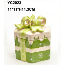 Boîte cadeau carrée à la main en céramique
