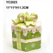 Keramische handgezeichnete quadratische Geschenkbox