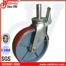 12 Inch Polyurethane Scaffold Caster with Round Stem