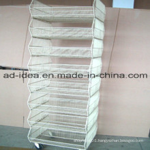 Multi Layers Metal Display Stand/Advertising Stand with Caster