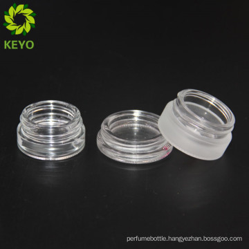 Cosmetics white glass jar frosted glass jar for lip balm eye cream container