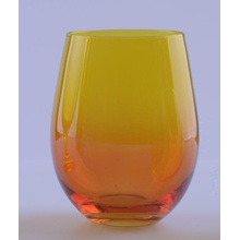 Ombre Colored Stemless Glass Para Venda