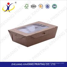 2017 meilleure vente emballage boîte de papier bon marché avec couvercle transparent