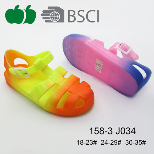 New Style Summer Durable Colorful Fancy Girl Pvc S