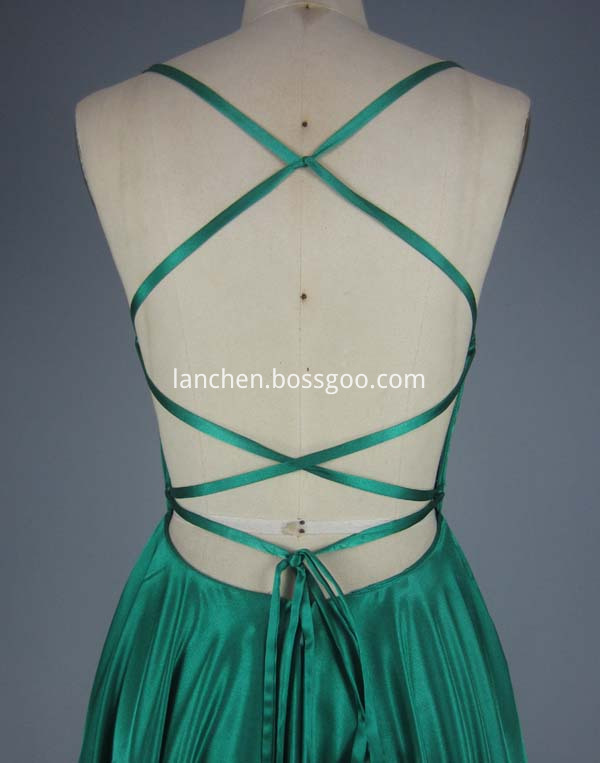 ball gown green