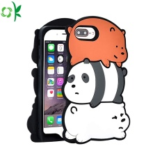 Popular Bear Silicone Mobile Phone Cover ขายส่ง