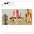 Chapéu de papel colorido Chapéu de palha básico de moda