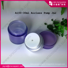 China SRS Essential Oil Use And Hot Stamping Surface Handling Acrylic 15ml Airless Pump Bottle