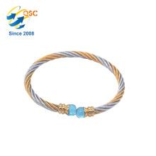 Conception simple avec le bracelet de bijoux en métal plaqué par or fait sur commande
