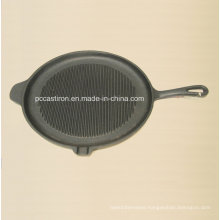 Preseasoned Cast Iron Griddle Pan Dia 28cm