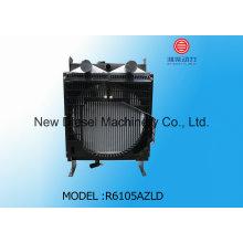 Cobre y aluminio Weichai agua radiador R6105azld