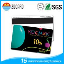 PVC impressão cartão magnético claro