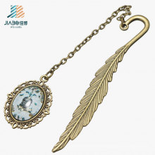 China Supply Promotion Gift Custom Feather Bookmark in Metal for Book