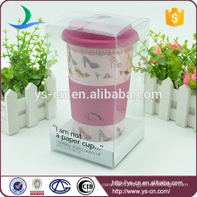 2015 Wholesale Ceramic Large Gift Mug With Lid