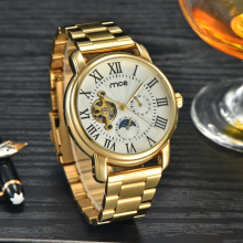 custom gold automatic mens watch