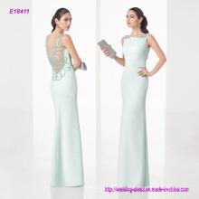 China Manafacture Venta al por mayor vestido largo de vestido de noche de joyería de moda