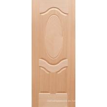 Piel de puerta HDF de 3 mm de Ethiopia con chapa de teca
