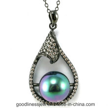 High Quality and Sterling Silver Pendant, Black Pearl Charm Pendant P5021s