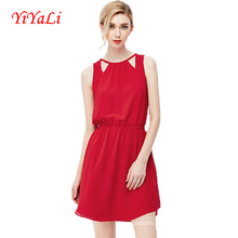 2016 Summer New Style Sleeveless O-Neck Women Dress