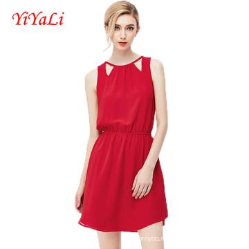2016 лета новый стиль рукавов O-шеи женщин платье