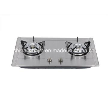 2 brûleurs 710 Longueur acier inoxydable intégré Hob / Gas Hob