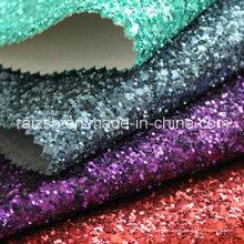 Matt Grit Glitter cuero PU cuero sintético brillo tejido