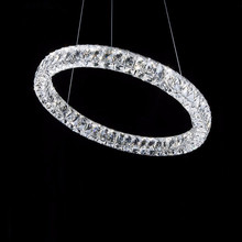 classical led ring crystal chandelier