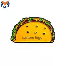Металлическая эмалированная булавка с логотипом Taco Emoji
