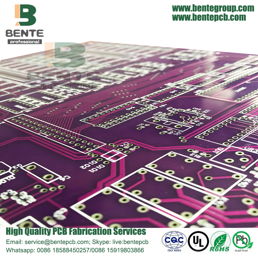 4 Layers PCB Multilayer PCB ENIG Purple Ink FR4 Tg135 PCB