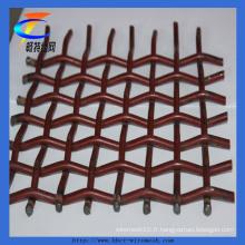 Treillis métallique serti à l'acier à haute teneur en carbone pour l'exploitation minière (CT-62)