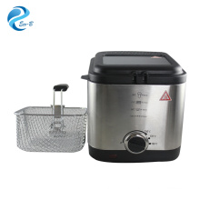 Hot Sale High Quality Stainless Steel Home Appliance 1.5L Electric Chicken Potato Deep Fryer With Thermostat