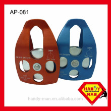 Aluminum Large Big Climbing 28kN 16mm Rope CE Certified Big single roller mobile pulley