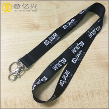 Black thin polyester lanyards for id badges