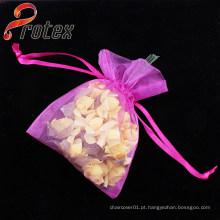 Top qualidade Drawstring jóias Organza Pouch