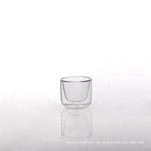 Kleine Borosilikatglas Doppelwand Glas Teetasse