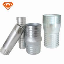 Raccords d'alimentation en eau du connecteur Nipple King en acier
