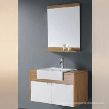 Cabinet de salle de bain en mélamine à chaud avec évier