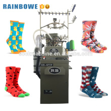 3.75 inch computerized automatic nylon cotton sock knitting machine for making socks