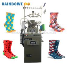 Machine à tricoter informatisée de chaussette de coton de nylon de 3,75 pouces pour faire des chaussettes