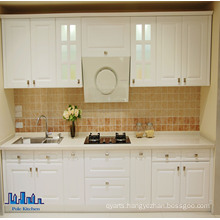 Pole Linear Style White PVC Kitchen Cabinet