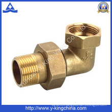 90 Degree Brass Connector Pipe Fitting with Compression Ends (YD-6039)