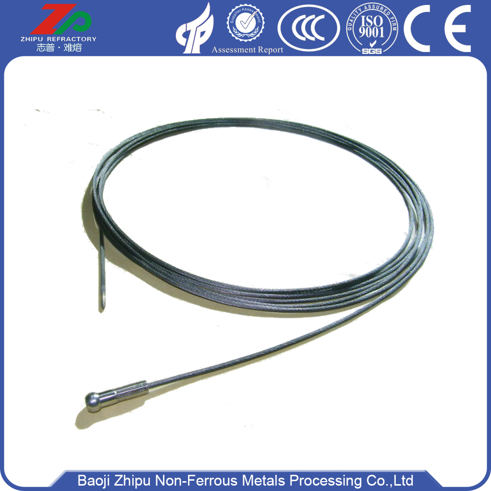 99.95% High quality dia 3.0 tungsten wire rope