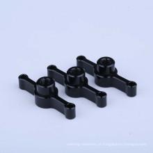 Parafusos de máquina de alumínio de polegar de parafusos de cabeça anodizada fina