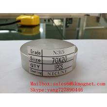 Neodym-Magnet N35 N42 70X20 D70 * 20mm