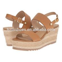 Neueste Damen Sommer Schuhe 2016 Neue Model Frauen Espadrille High Heel Sandalen
