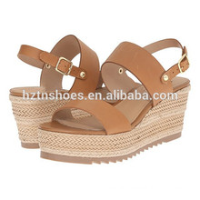 Latest Ladies Summer Shoes 2016 New Model Women Espadrille High Heel Sandals