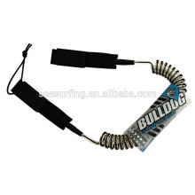 surfboard coil leash with high durability custom surfboard leash